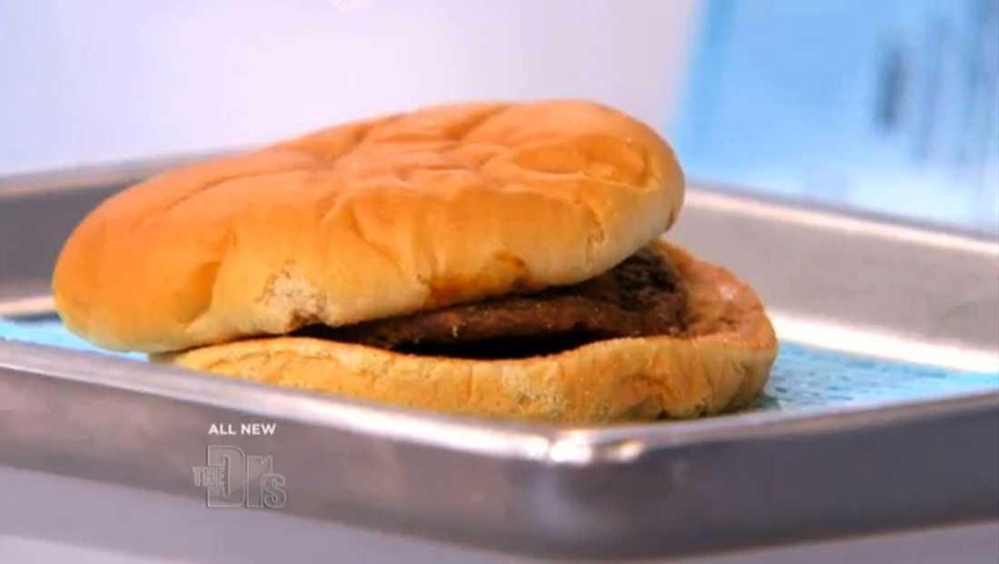 Här är den 14 år gamla hamburgaren.