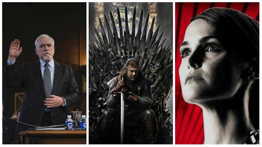 """Succession"", ""Game of thrones"" och ""The Americans""."