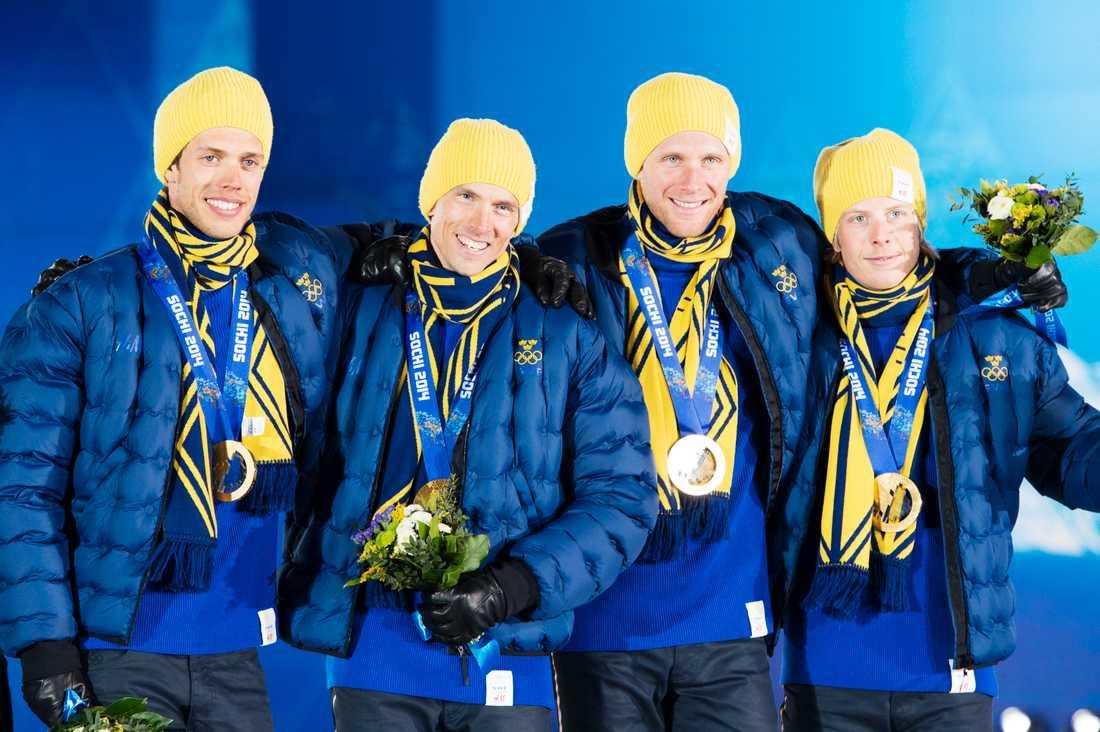 Stafettguldet i OS 2014.