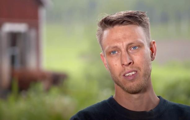 """Pelle Hansson Ed i """"Bonde söker fru""""."""