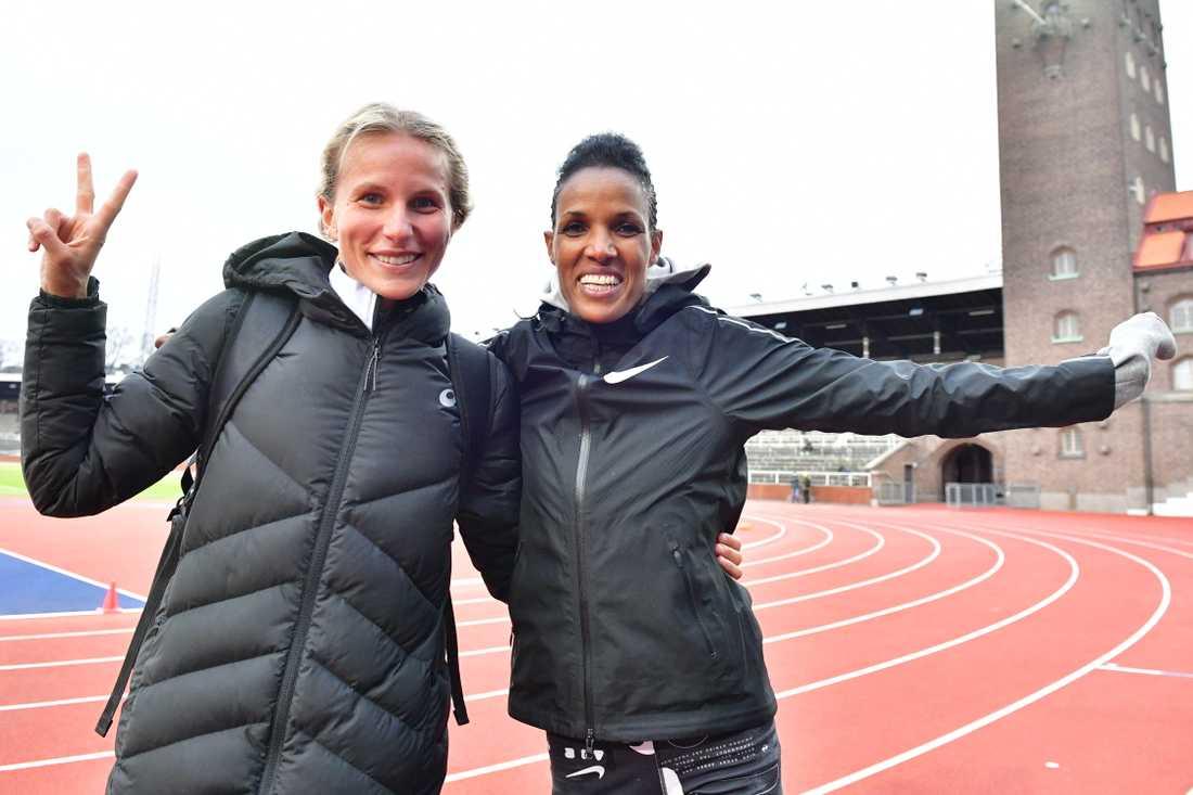 Sarah Lahti och Meraf Bahta.