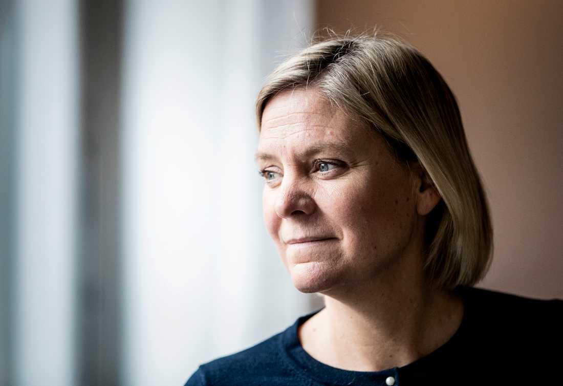 Finansminister Magdalena Andersson vill dra ner på förväntningarna inför vårbudgeten. Arkivbild.