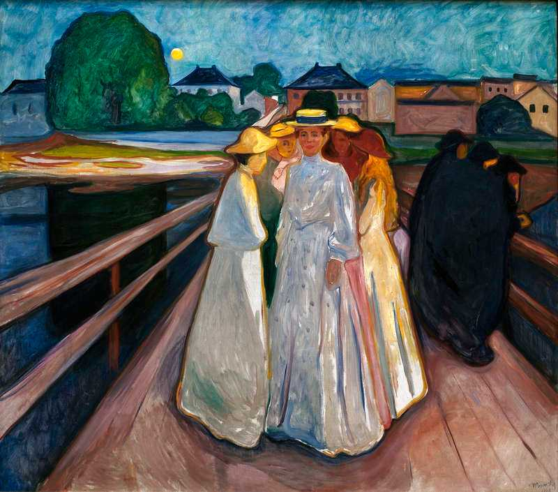 """På bron"", olja på duk, 1903."