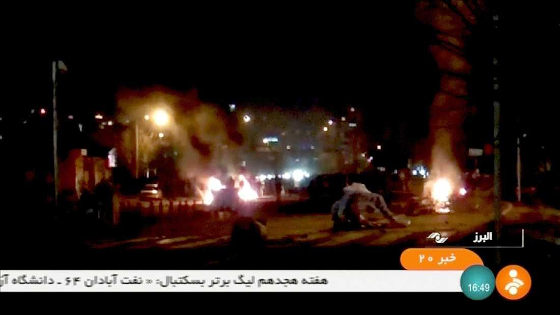 Protester i Tuyserkan, Iran.