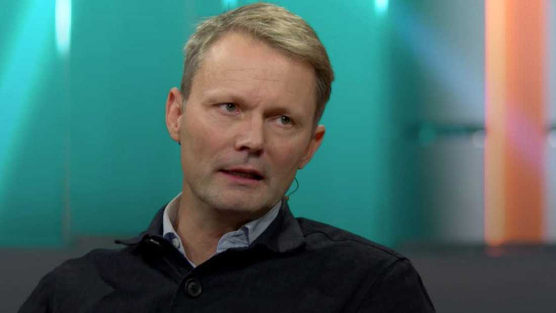 """Felix Herngren i """"Hellenius hörna""""."""