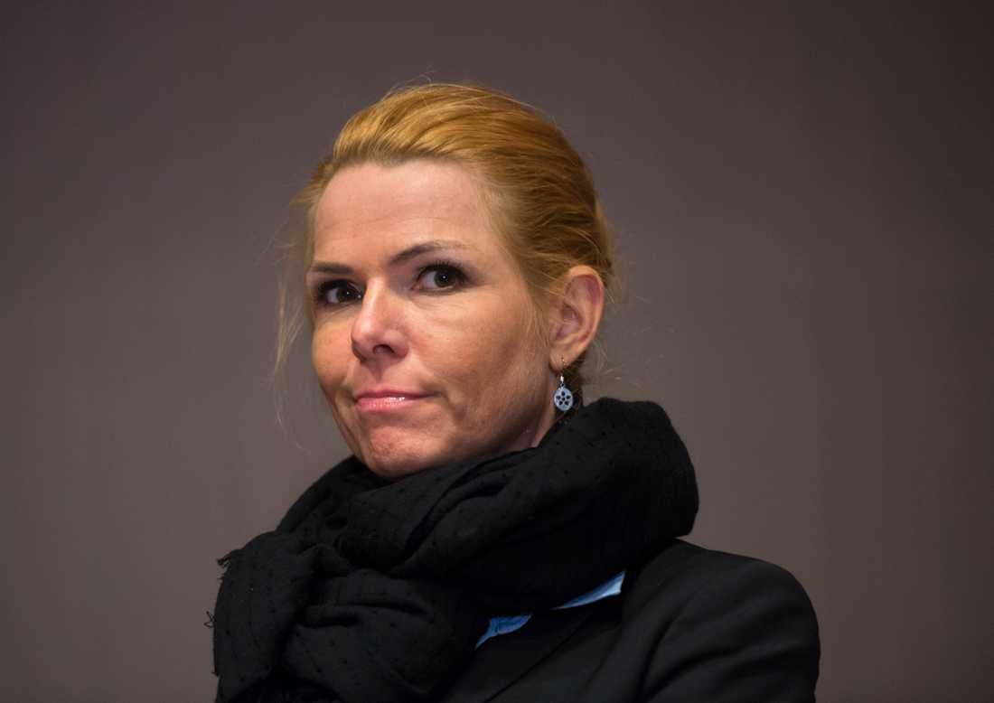 Inger Støjberg avgår som vice ordförande för det borgerliga partiet Venstre i Danmark. Arkivbild.