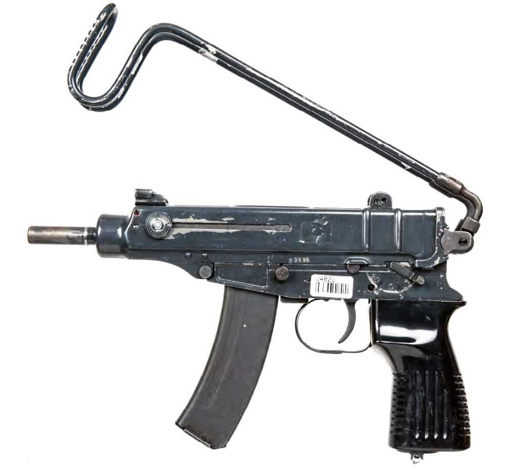 En kulsprutepistol av modellen Skorpion. Arkivbild.