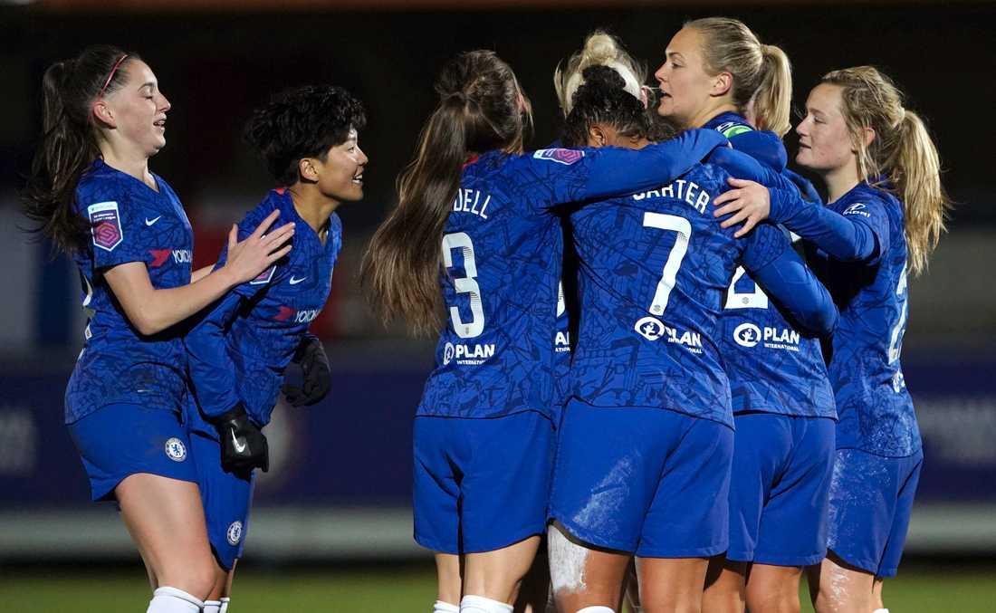 Chelsea, här med Magdalena Eriksson näst längst till höger. Arkivbild.