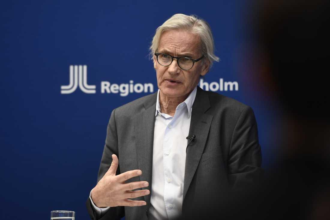 Johan Bratt, tillförordnad hälso- och sjukvårdsdirektör i Region Stockholm. Arkivbild.