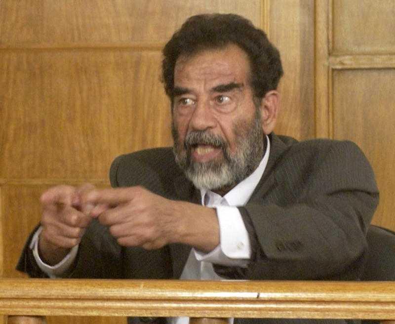 Saddam Hussein, Iraks förre diktator.