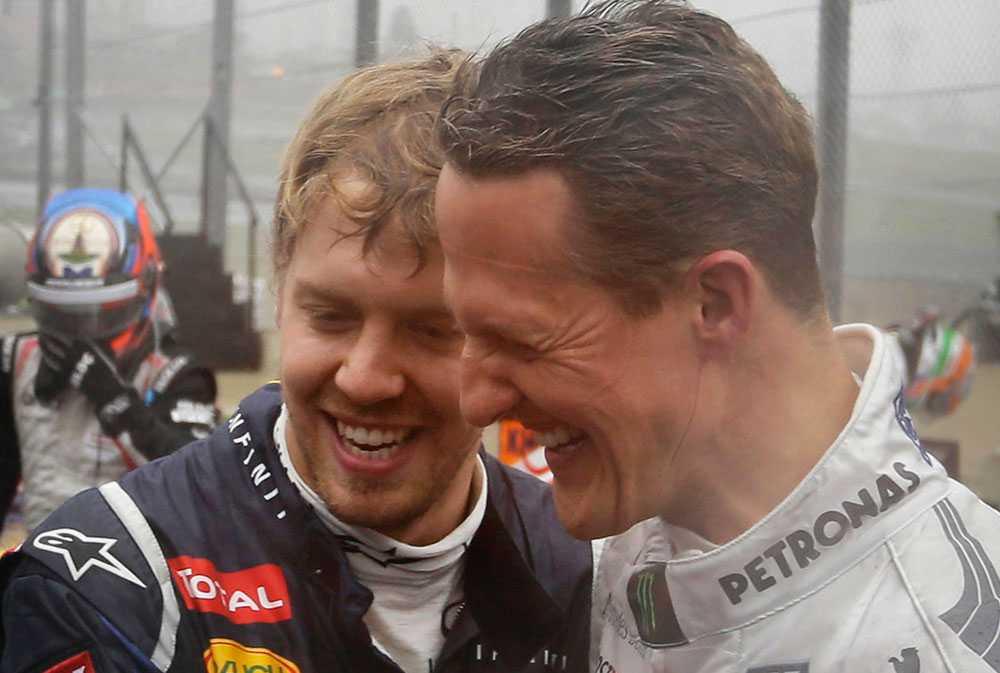 Alexander Vettel och Michael Schumacher