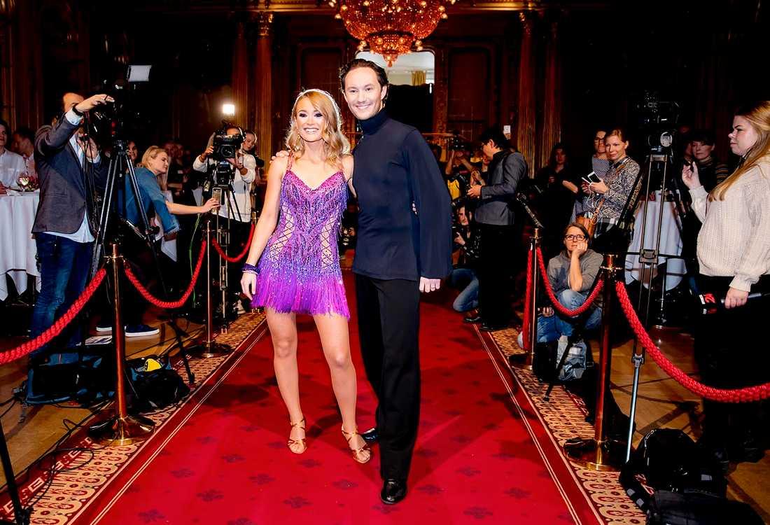 """Jonathan Näslund tillsammans med Ellen Bergström i """"Let's dance"""" 2017"""