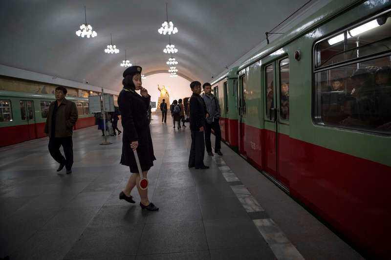 Tunnelbanan i Pyongyang.