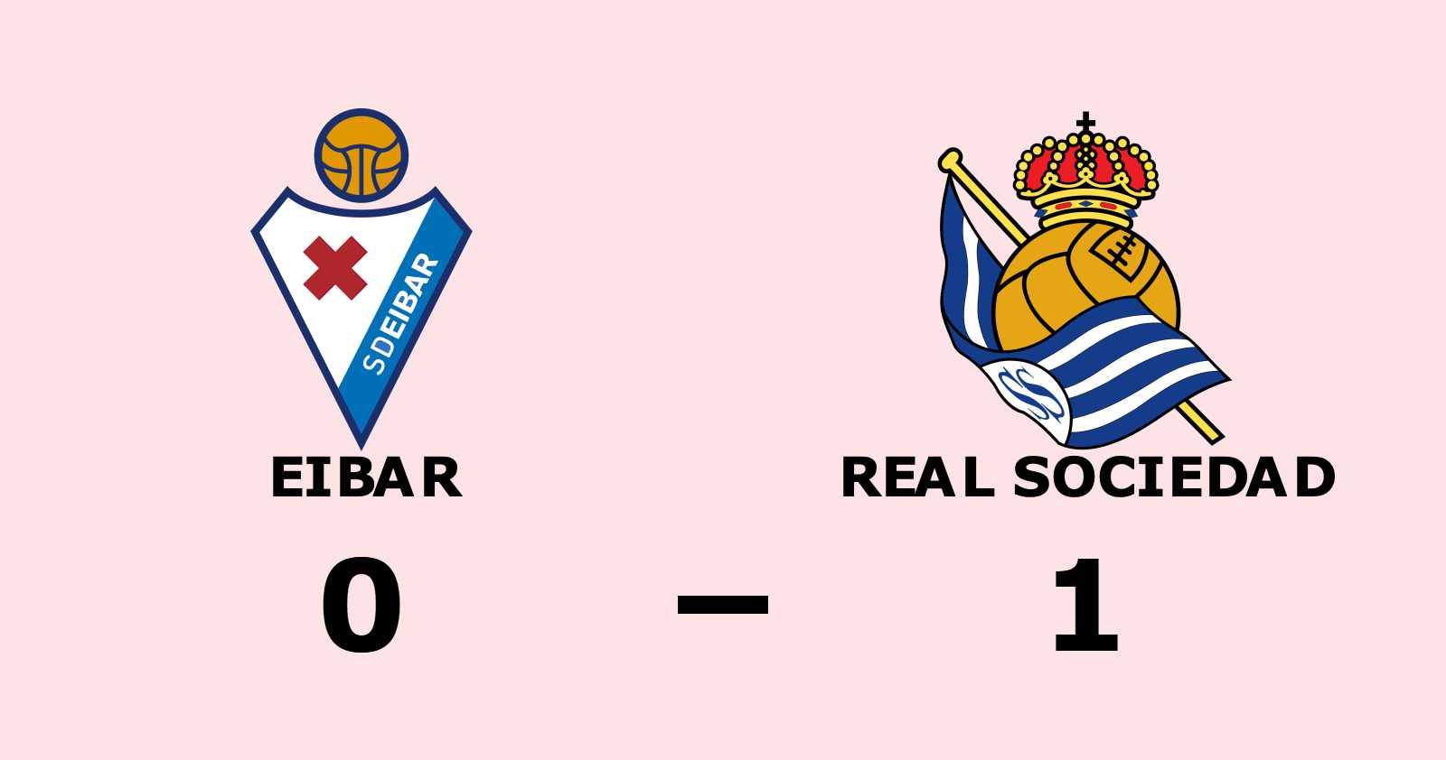 Uddamålsseger för Real Sociedad mot Eibar