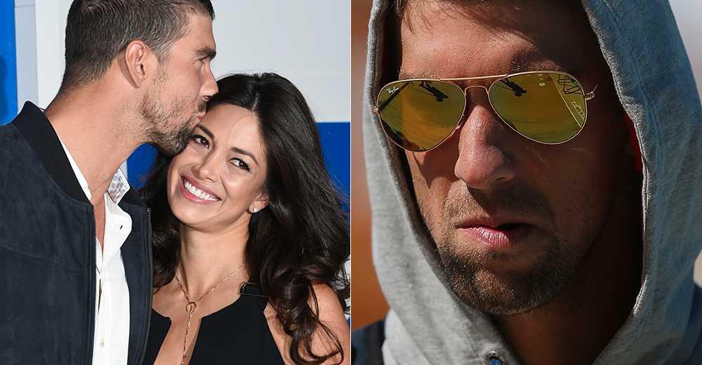 Michael Phelps och frun Nicole.