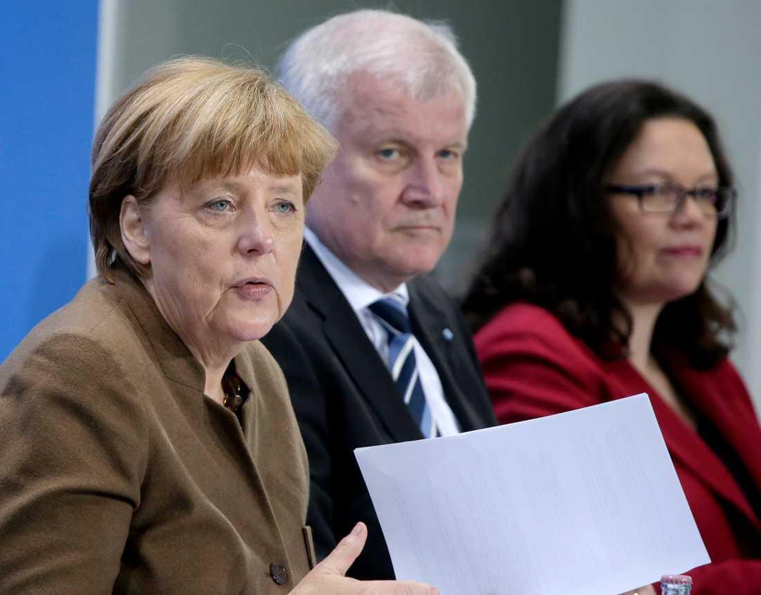 Angela Merkel och Horst Seehofer.