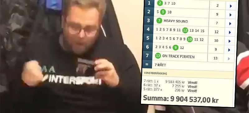 Här jobbar Andreas Arvidsson in 7 rätt på V75 och tio miljoner kronor.