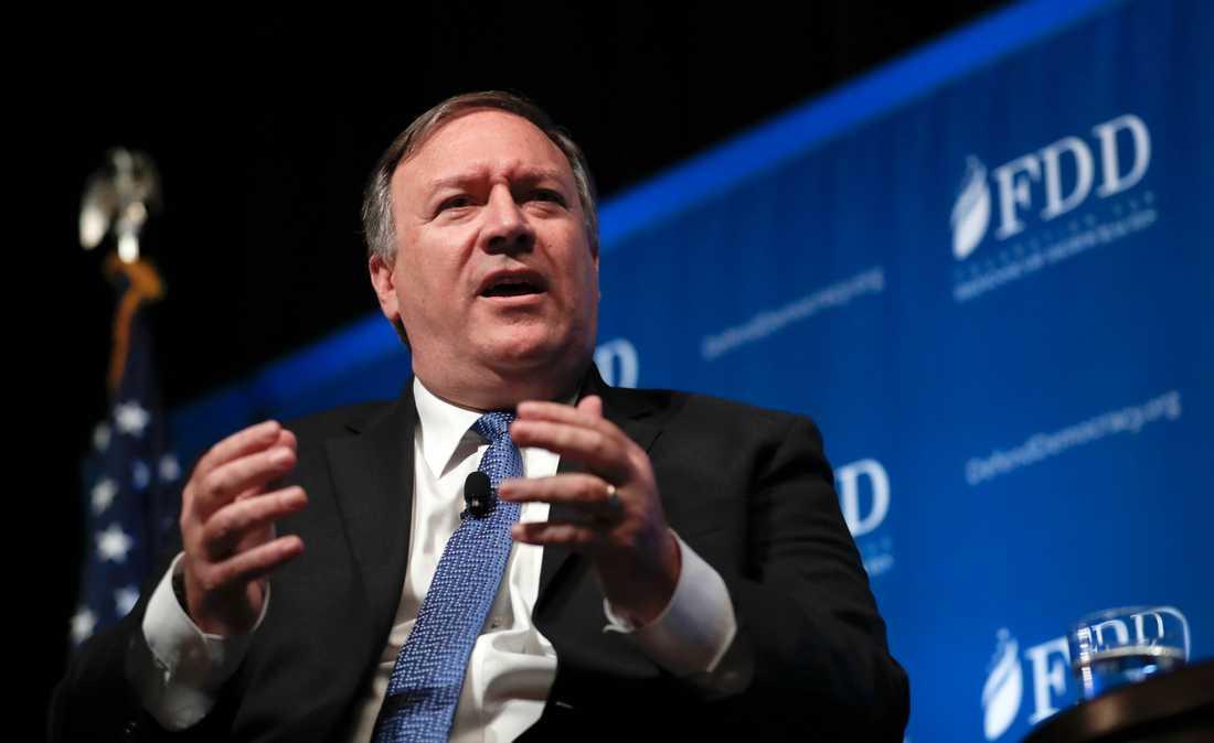 Underrättelsetjänsten CIA:s chef Mike Pompeo, som president Donald Trump utsett till USA:s nästa utrikesminister.
