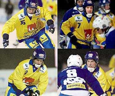 """Förbundskapten Kenth Hultqvist om    Per Hellmyrs: Oerhört mogen, både som spelare och människa. Gör väldigt mycket klokt på isen, och har både farten och tekniken. Oerhörda kvaliteter"""".  Johan Andersson: """"Det känns väldigt rätt att han är med, och han visar att sammanhangen inte är för stora för honom. Skridskoåkningen är av högsta internationella klass"""".  David Karlsson: Utpräglad målskytt som bara har en enda uppgift hos oss. Han sätter allt, håller aldrig igen när en målchans dyker upp. Är det någon gång han inte gör mål är han förbannad"""".  Daniel Liw: """"En stor spelare i dubbel bemärkelse. Har tränat oerhört hårt och fått betalt för det. Han kommer att bli en gigant i svensk bandy, ja, i svensk idrott till och med"""".."""