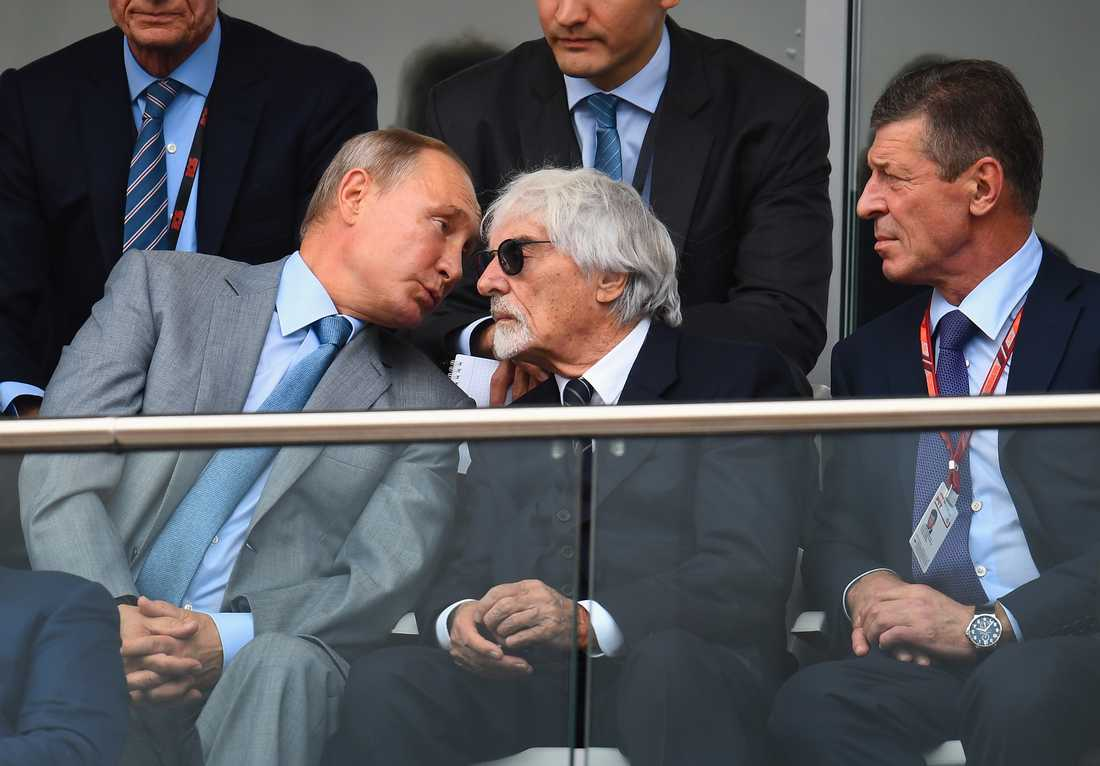 Vladimir Putin och Bernie Ecclestone.