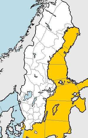 I dag fortsätter det snöa med hårda snöbyar på Gotland och östra Svealand.