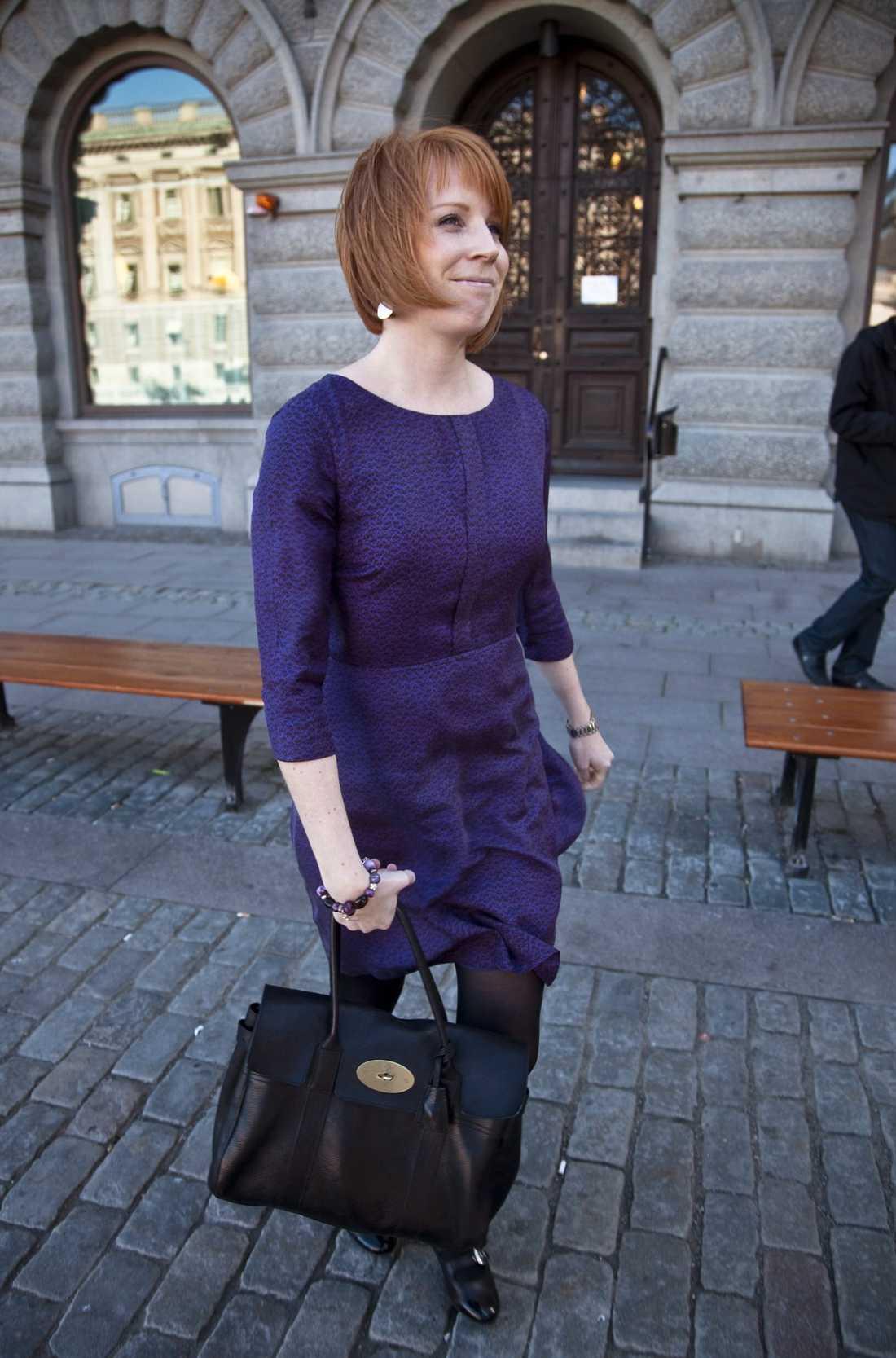 Annie Lööf, en av kandidaterna till att leda Centerpartiet.