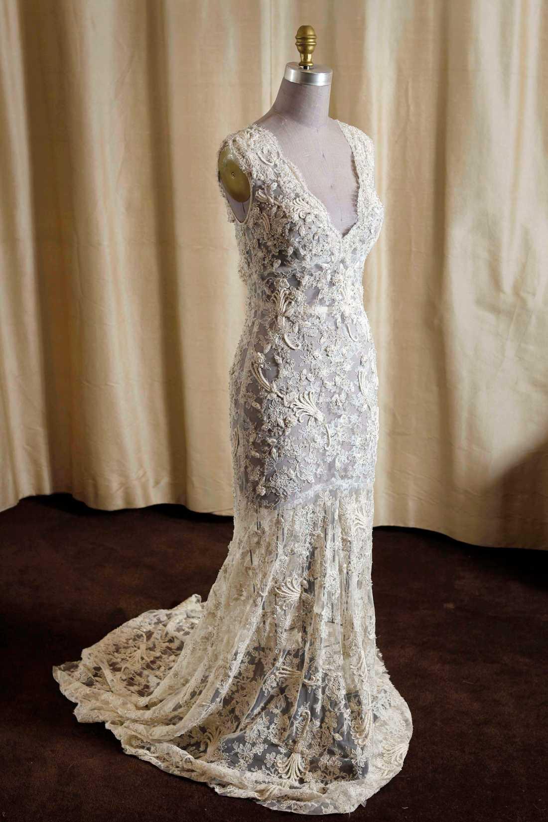 Inspirationsbild Vintageklänning från Monique Lhuillier. Foto: AP