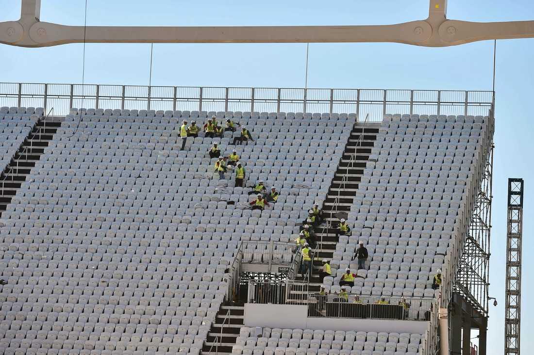 På Arena Corinthians spelas VM-premiären mellan Kroatien och Brasilien.