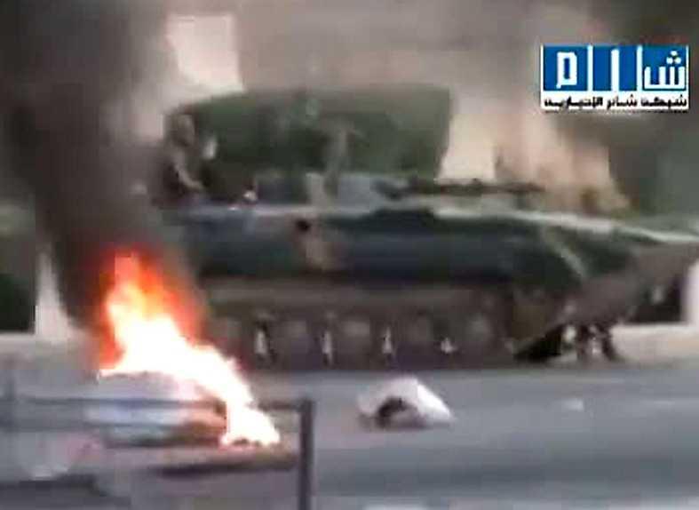 KRIG PÅ GATORNA Igår gick syriska militären till attack mot staden Hama.
