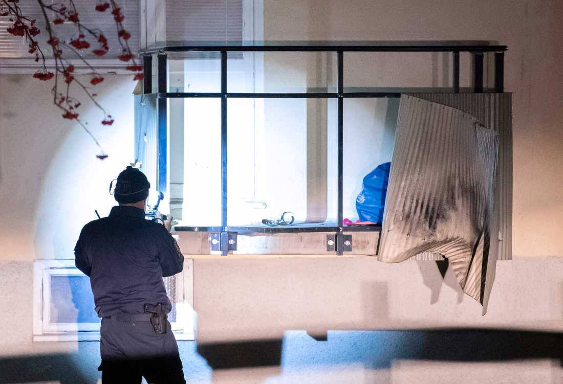 En balkong förstördes i explosionen i centrala Hässleholm. Arkivbild.