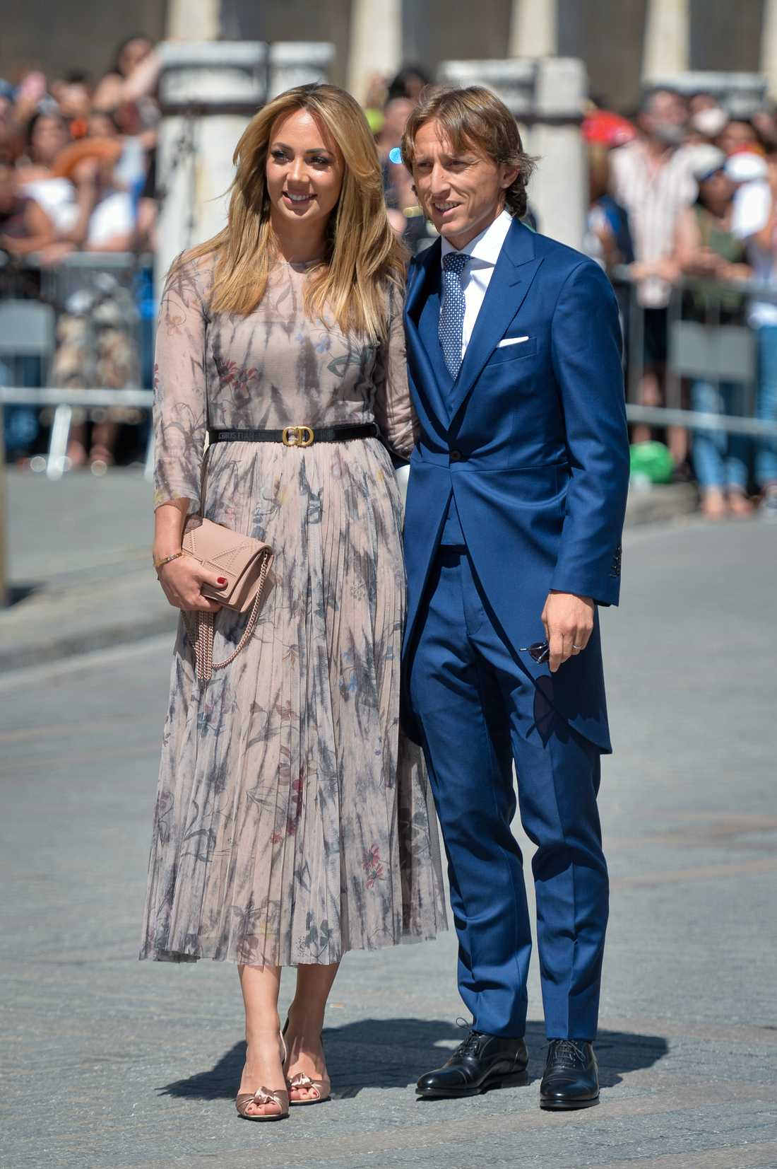 Luka Modric med frun Vanja Bosnic.
