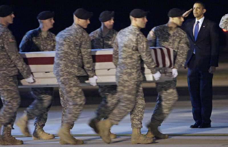 """Obama försvarar """"ett nödvändighetens krig"""" och det har sitt pris."""