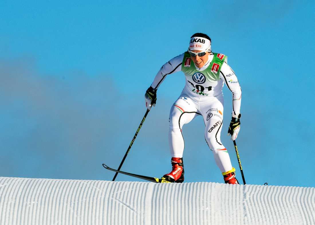 Charlotte Kalla vann 10 km i Bruksvallarna.
