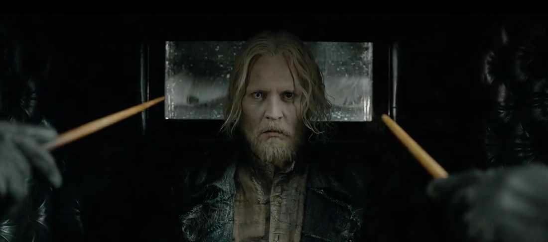 Johnny Depp som Grindelwald.