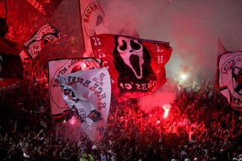 Flamengos fans under en match i Copa Libertadores.