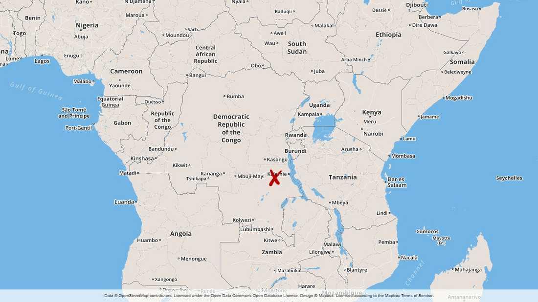 Olyckan skedde i närheten av orten Mayibaridi i sydöstra Kongo-Kinshasa.