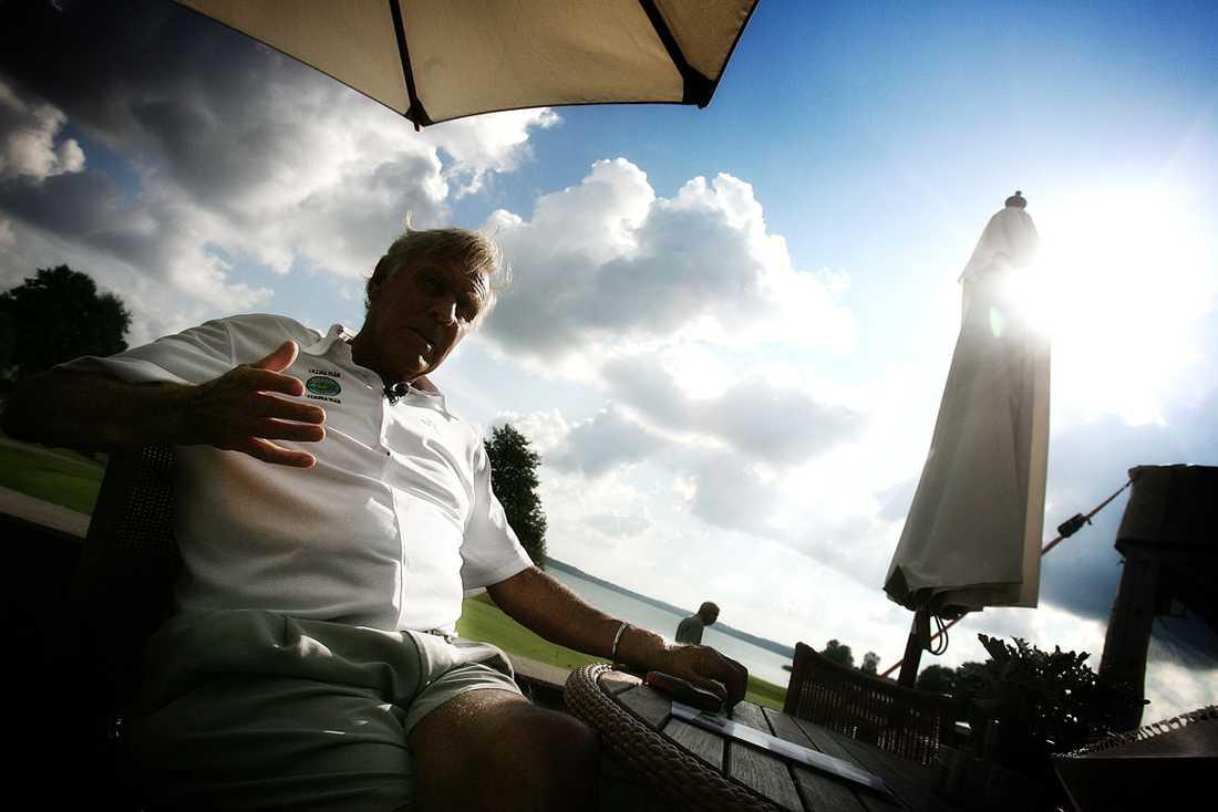 Firar sin 75-årsdag på golfbanan 2006.
