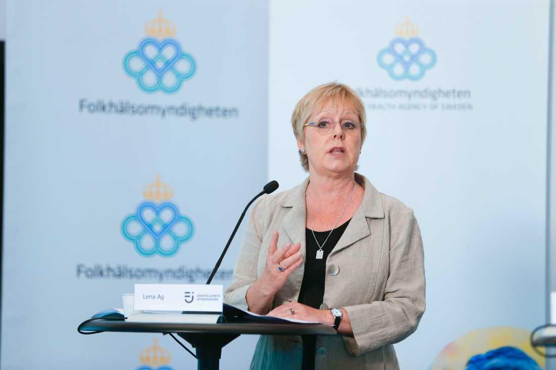 Lena Ag, generaldirektör, Jämställdhetsmyndigheten. Arkivbild