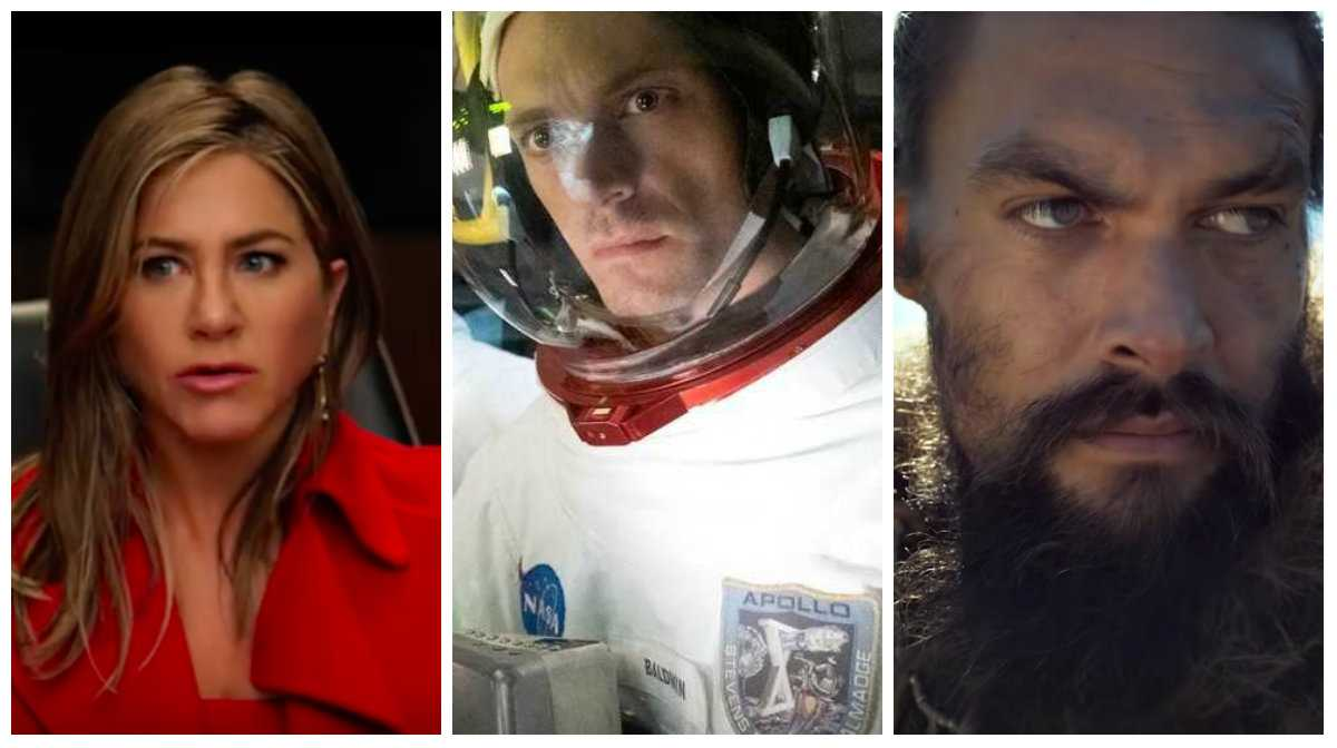 "Jennifer Aniston i ""The Morning Show"", Joel Kinnaman i ""For all mankind"" och Jason Momoa i ""See""."