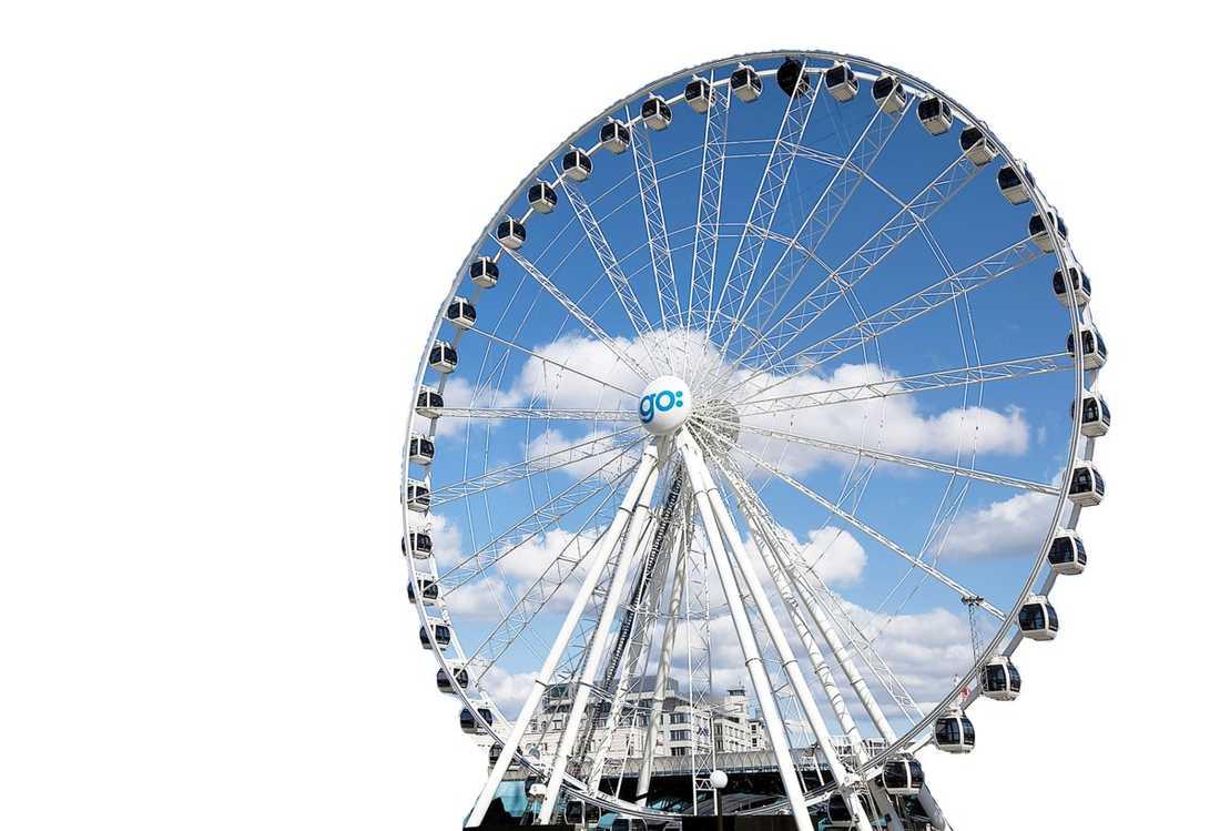 Lilla London eye Göteborgshjulet är ett monument över evenmangsstaden Göteborg.