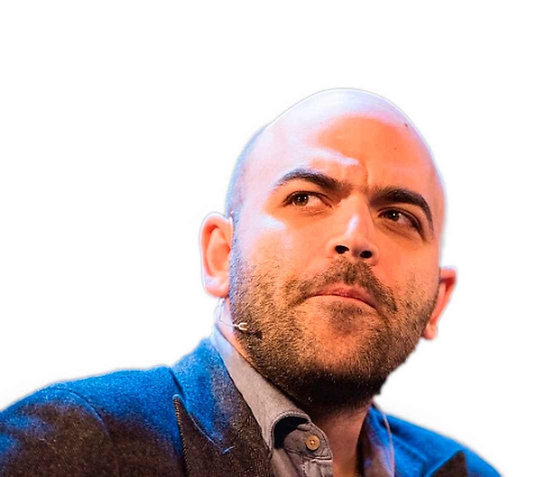 Regeringens hot mot författaren Roberto Saviano möts också av protester.