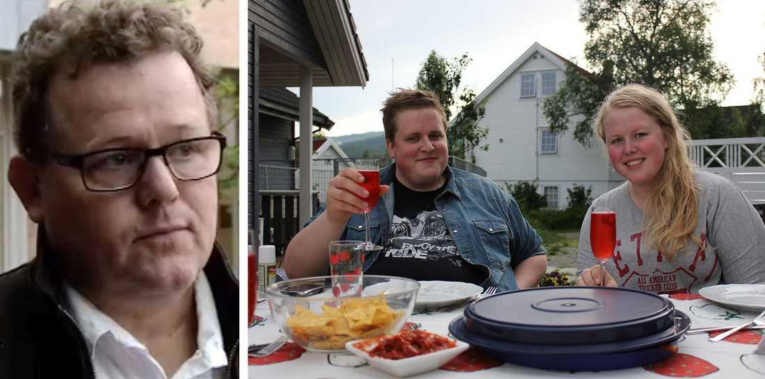 """Pappa Roald Linaker blev uppringd av sin dotter Hanne, 17, på ön. Hon sa att han skulle ringa polisen – den riktiga polisen. Hans son, Gunnar, 23, klarade sig inte undan skytten. Syskonen åkte till lägret på Utøya tillsammans. Men bara Hanne överlevde. """"Gunnar räddade mig först och främst, han höll mig lugn och tröstade mig"""", säger systern Hanne."""