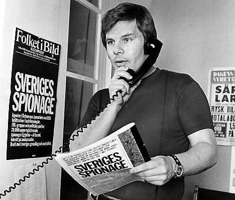 Då Jan Guillou avslöjar IB-affären 1973.