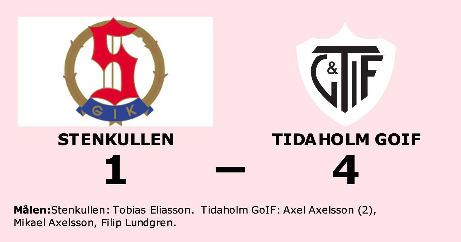 Axel Axelsson gjorde två mål när Tidaholm GoIF vann