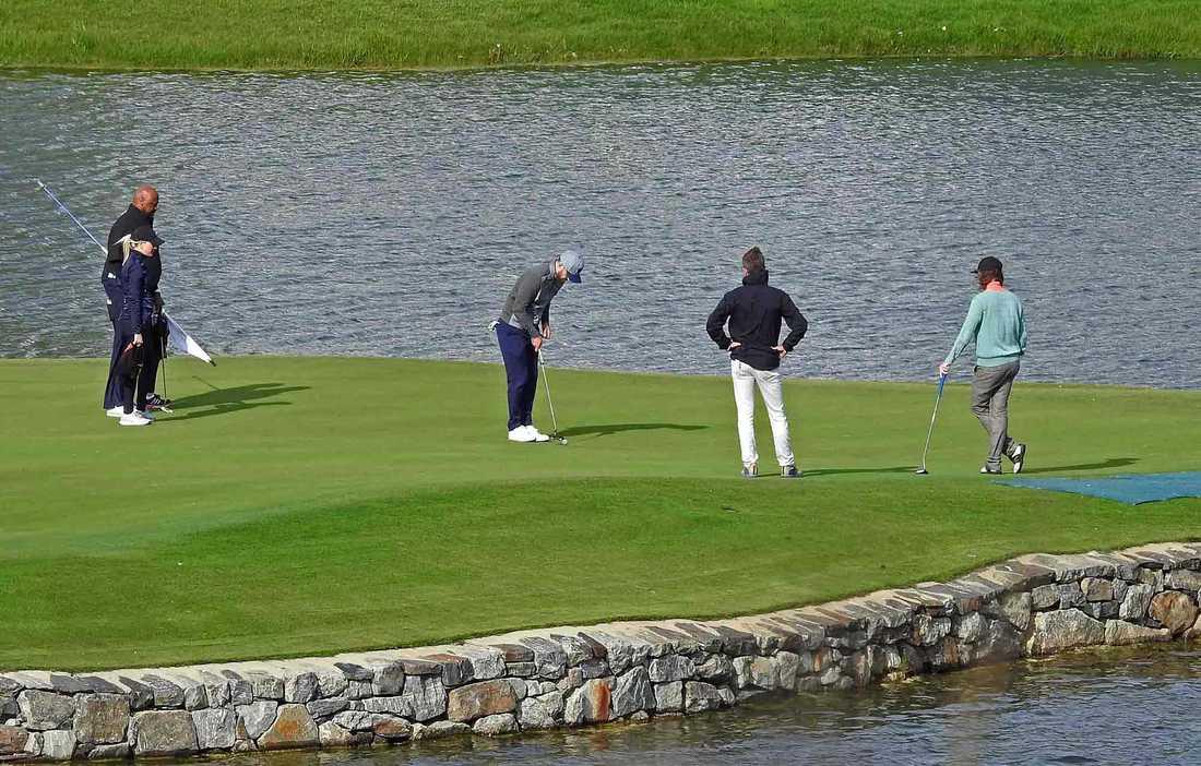 Justin Timberlake på Bro hof slotts golfklubb.