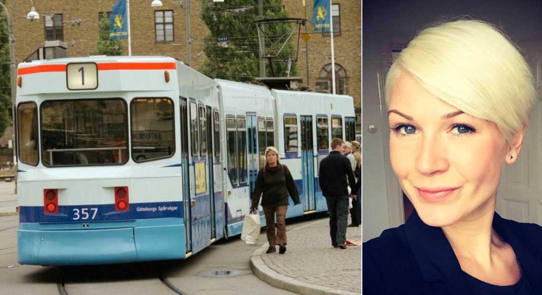 Passageraren Pernilla Rane, 29, vill hylla den kvinnliga spårvagnschauffören.