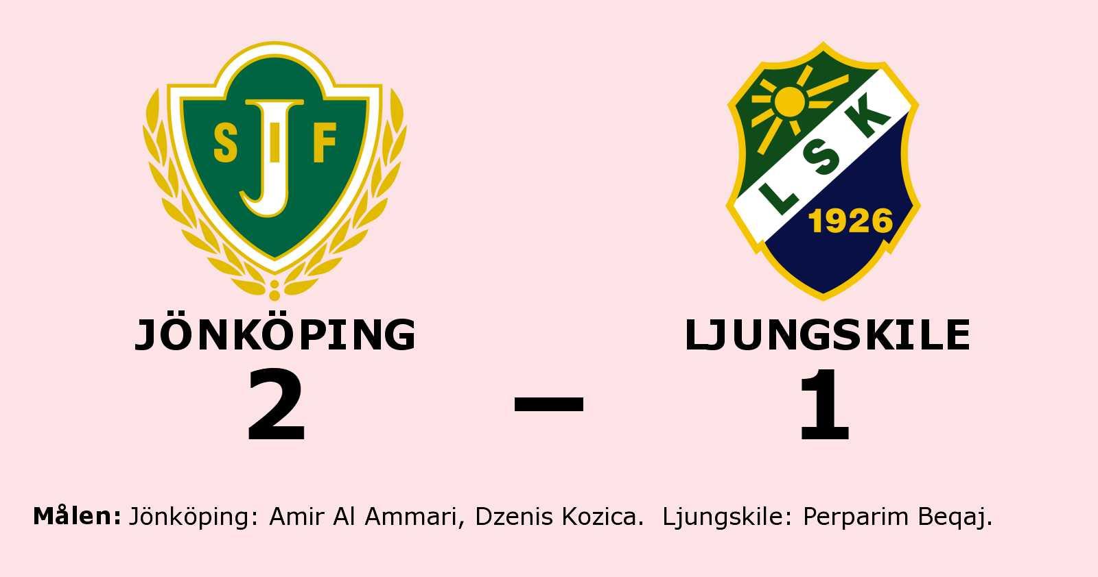 Amir Al Ammari och Dzenis Kozica målskyttar när Jönköping vände