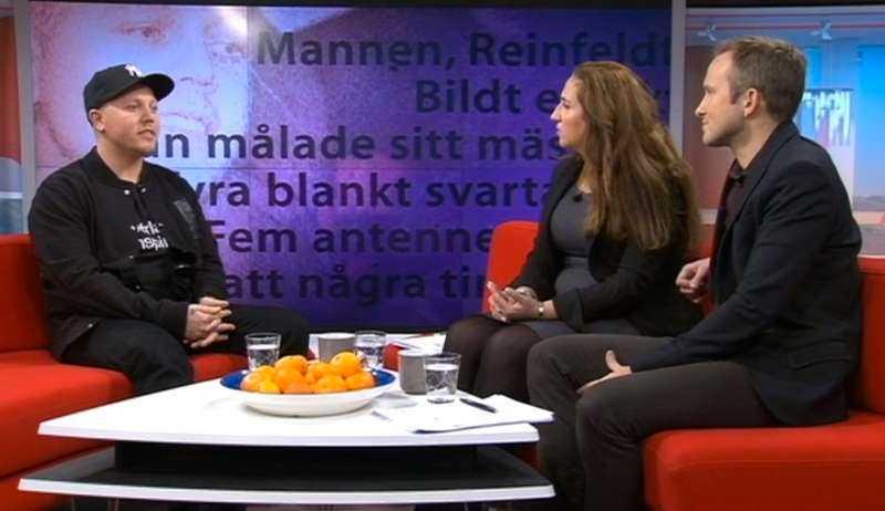 """Försoffat, svt Sebbe Staxx i SVT:s morgon-tv. """"På tio minuter lyckades programledarna befästa och cementera fördomarna om hiphop som om de hade en checklista"""", skriver Jack Hildén."""