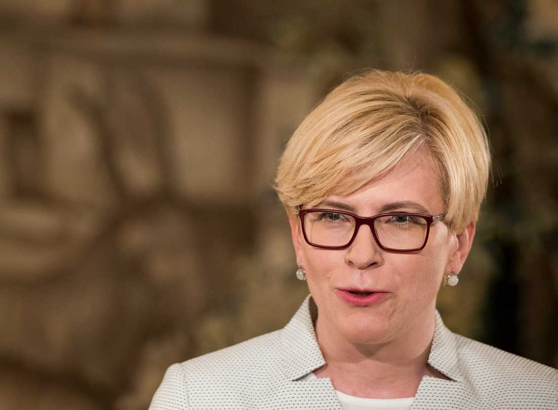 Den tidigare finansministern Ingrida Simonyte, ledare för kristdemokratiska Fosterlandsförbundet (TS-LKD), kommer med största sannolikhet leda Litauens kommande regering. Arkivbild.