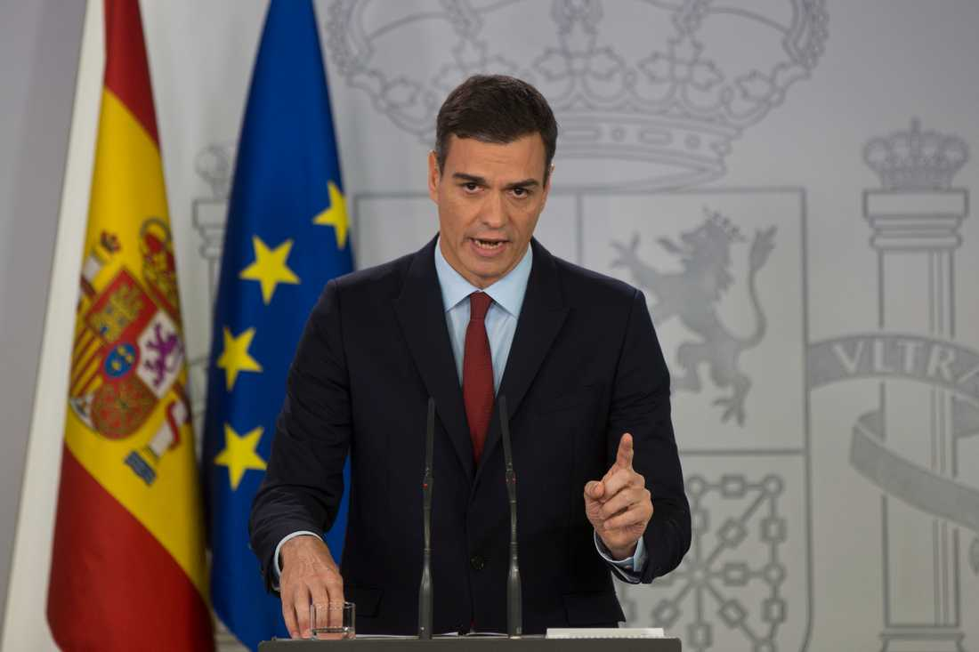 Spaniens premiärminister Pedro Sánchez.